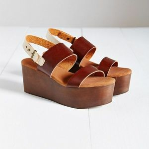 Anthropologie Cooporative platforms Sandals